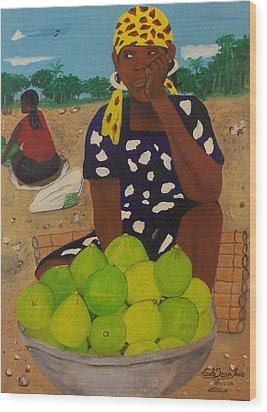 Sweet Oranges Wood Print by Nicole Jean-Louis