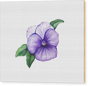 Wood Print featuring the painting Sweet Pansy by Heidi Kriel