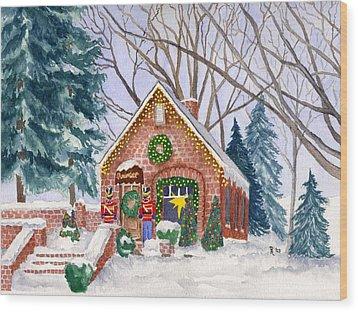 Sweet Pierre's Chocolate Shop Wood Print by Rhonda Leonard
