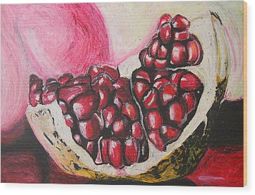 Sweet Pomegranate Wood Print by Michael Amos