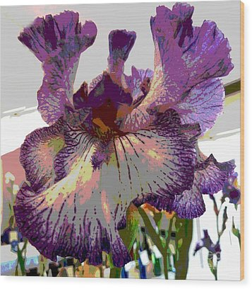 Wood Print featuring the photograph Sweet Purple by Sally Simon