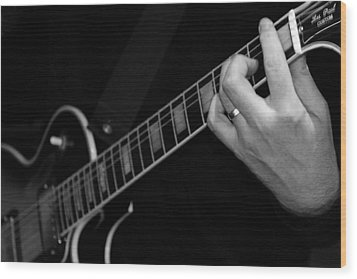 Wood Print featuring the photograph Sweet Sounds In Black And White by John Stuart Webbstock