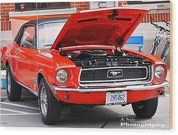 Wood Print featuring the photograph Sweet Stang... by Al Fritz