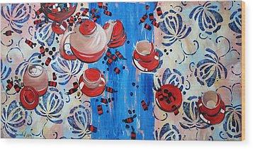 Wood Print featuring the painting Sweet -stuff by Anastasija Kraineva