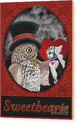 Sweet Sweethearts Wood Print by Carol Jacobs