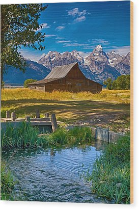 Sweet Teton Morning Wood Print by Rob Wilson