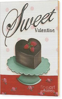 Sweet Valentine  Wood Print by Catherine Holman