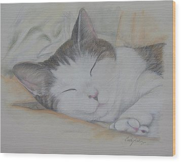 Sweet While Sleeping Wood Print