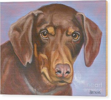 Sweetest Rescue Wood Print by Susan A Becker