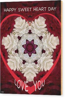 Sweetheart Card Wood Print by Debra     Vatalaro