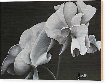 Sweetpea Blossoms Wood Print