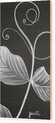 Sweetpea Vine Wood Print