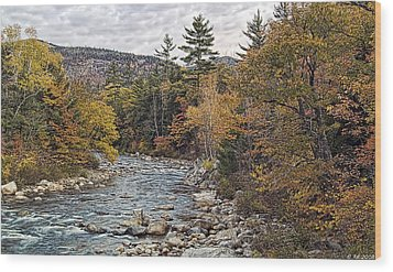 Wood Print featuring the photograph Swift River Autumn  by Richard Bean