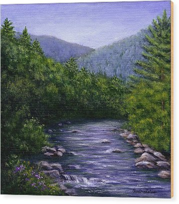 Swift River Wood Print by Sandra Estes