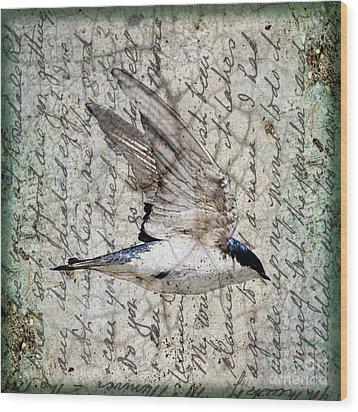 Swift Wings Wood Print by Judy Wood
