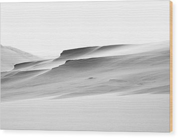 Wood Print featuring the photograph Swiftly Moving Dunes by Adria Trail