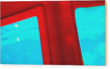 Swimming Enamel Wood Print