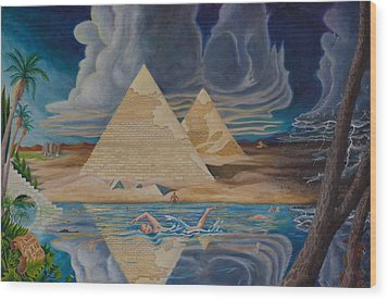 Swimming In That River In Egypt Wood Print by Matt Konar