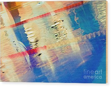 Swimming Pool 01b - Abstract Wood Print by Pete Edmunds
