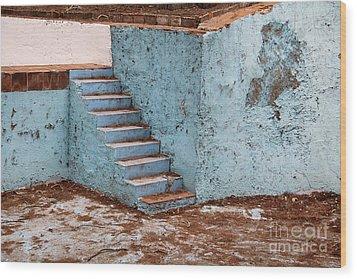 Swimming Pool At Exhacienda De Chautla Wood Print by Linda Queally