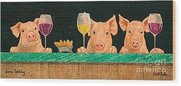 Swine Tasting... Wood Print