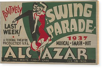 Swing Parade Of 1937 Wood Print by American Classic Art