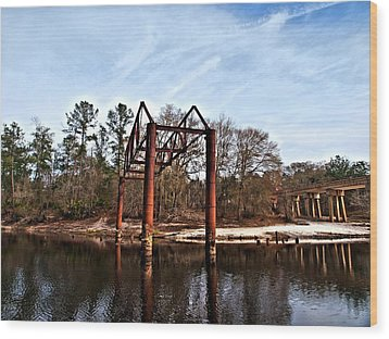 Wood Print featuring the photograph Swing Set by Laura Ragland