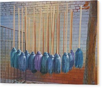 Swinging Blues Wood Print by Sue  Darius