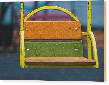 Swinging Rain - Featured 3 Wood Print