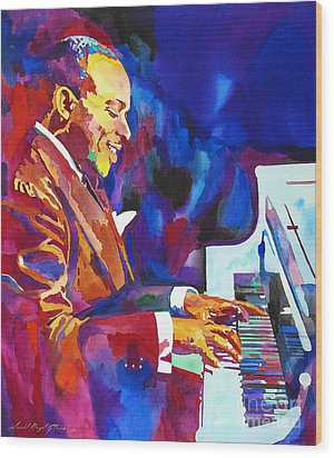 Swinging With Count Basie Wood Print by David Lloyd Glover