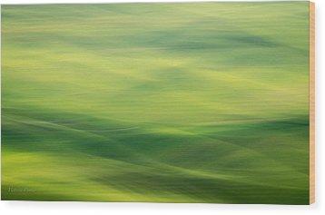Swipe Of Palouse Rolling Hills Wood Print