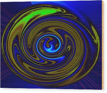 Swirl Wood Print by Claire Hull
