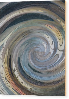 Wood Print featuring the photograph Swirl by Diane Alexander