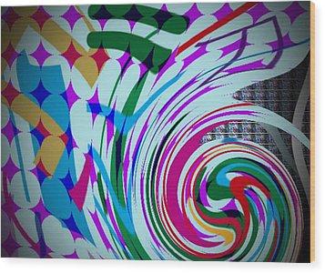 Swirl Wood Print by Kelly McManus