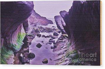 Wood Print featuring the photograph Swirl Rocks 2 by John Williams