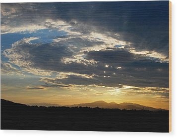 Wood Print featuring the photograph Swirl Sky Landscape by Matt Harang