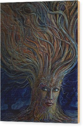 Swirling Beauty Wood Print by Frank Robert Dixon