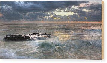 Swirling Seas Wood Print by Peter Tellone