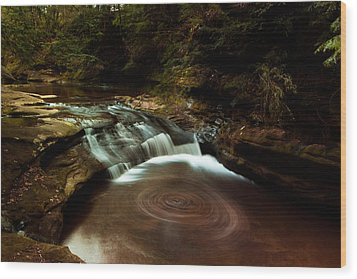 Swirling Water Wood Print