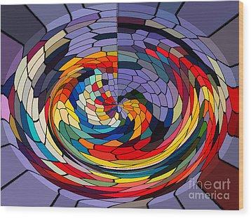 Swirls Wood Print by Gabriele Mueller