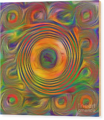Wood Print featuring the photograph Swirls by Geraldine DeBoer