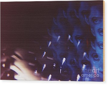 Swirls In Dark - Fine Art Analog 35mm Film Photographic Portrait Wood Print by Edward Olive