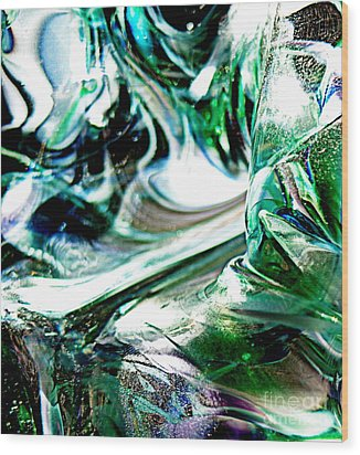 Swirls Of Color And Light II Wood Print by Kitrina Arbuckle