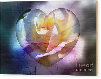 Swirls Of Love And Hope Wood Print by Judy Palkimas