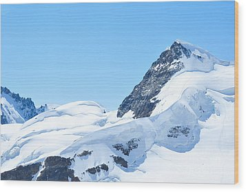 Wood Print featuring the photograph Swiss Alps by Joe  Ng