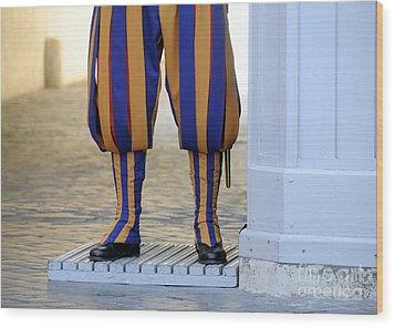 Swiss Guards. Vatican Wood Print by Bernard Jaubert