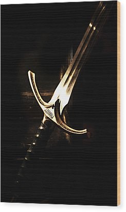 Sword Of Gandalf Wood Print by Christopher Gaston