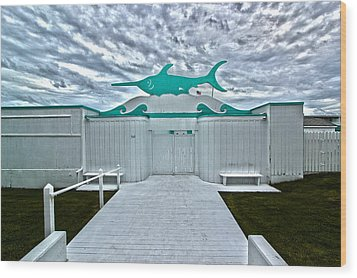 Swordfish Beach Club I Wood Print