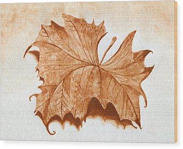 Sycamore #1 Oklahoma Red Dirt Artwork Tm Wood Print by Tanya Provines