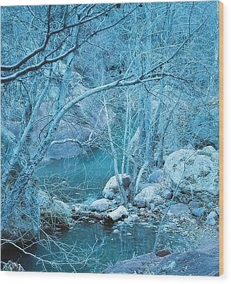 Wood Print featuring the photograph Sycamores And River by Kerri Mortenson
